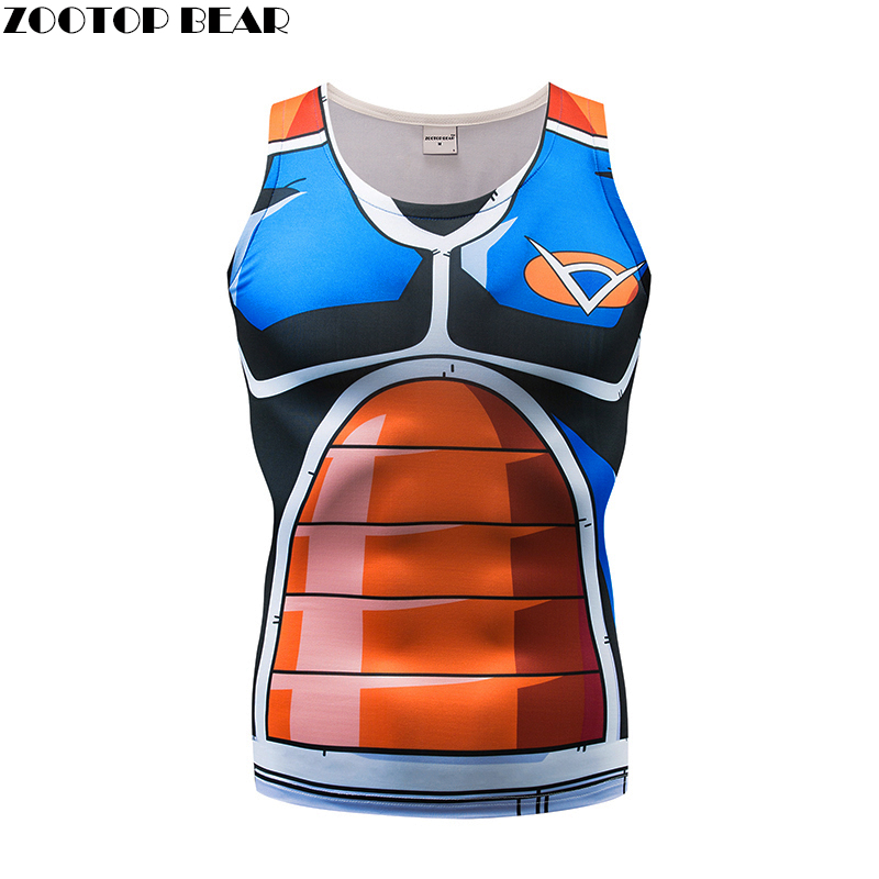 Figure Tank Tops Men Women Anime Vest Dragon Ball singlet Tops&Tees Waistcoat Casual Fitness Bodybuilding 2018 Tight ZOOTOP BEAR