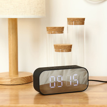 купить LED Alarm Clock Speaker Wireless Bluetooth Column Portable Stereo Hifi Subwoofer Support TF AUX USB Sound недорого