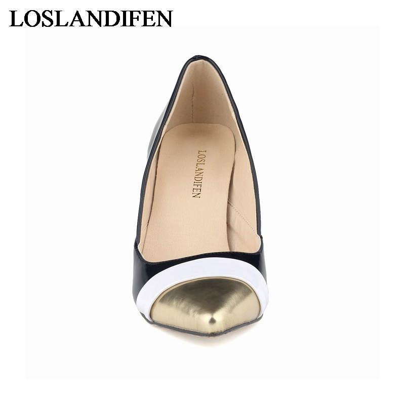 Ladies High Heels Pointed Corset Style Work Court Women Pumps Leather High Heels Sexy Shoes Party Wedding Shoes NLK B0029 in Women 39 s Pumps from Shoes