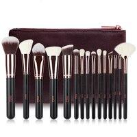 15pcs Rose Gold Professional Makeup Brush Set High Quality Wool Brush Beauty Tool