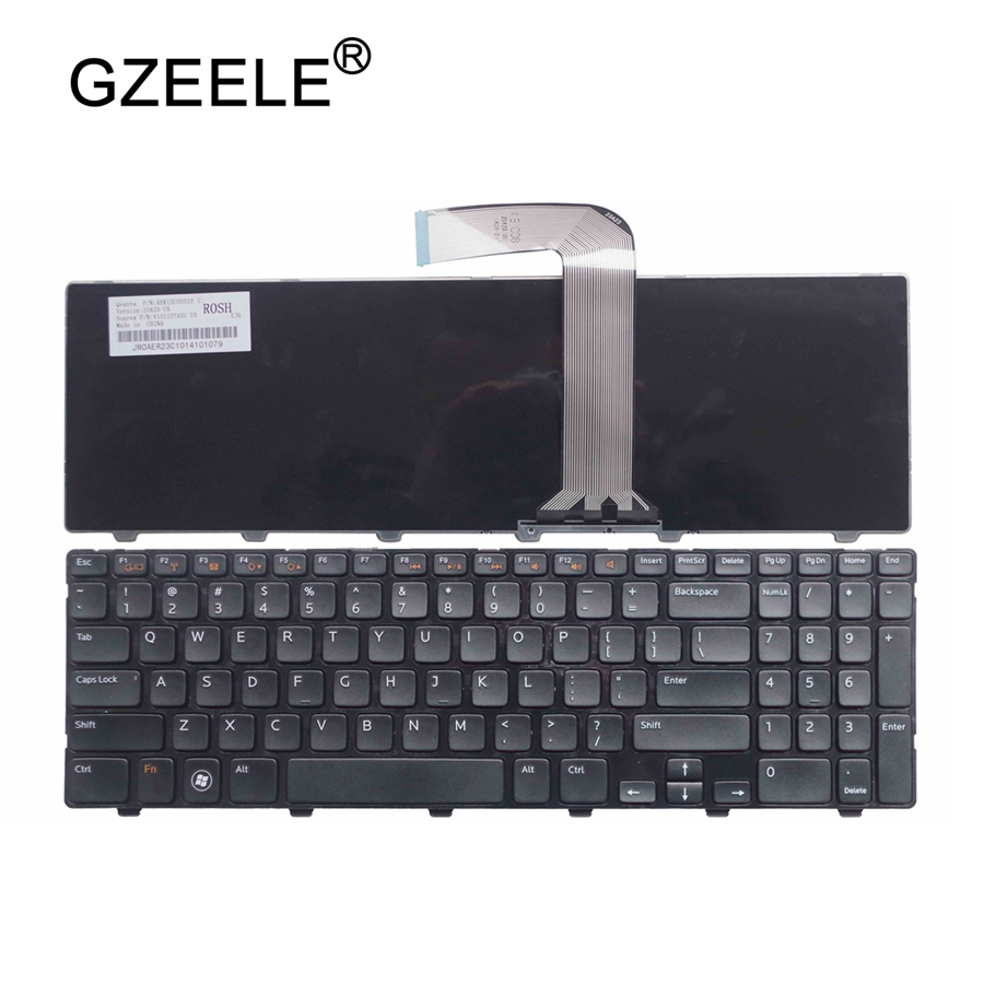 GZEELE New Laptop Keyboard For Dell For Inspiron 15R N5110 M5110 N 5110 US Black English Laptop Keyboard Replace Hot Selling