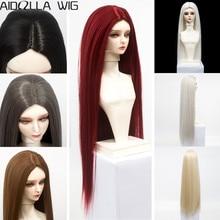 BJD/SD Doll Wigs Hair Long Straight White Khaki Grey Brown Black Hair for 1/6 1/4 1/3 Doll Heat Resisitant Synthetic Fiber