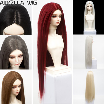 BJD/SD Doll Wigs Hair Long Straight White Khaki Grey Brown Black Hair for 1/6 1/4 1/3 Doll Heat Resisitant Synthetic Fiber xintylink 1 to 2 ways lan rg45 cat6 cat5e cat5 8p8c stp shielded ethernet network cable rj45 female splitter connector adapter