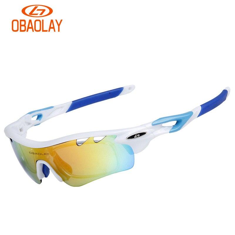 acdc53aed9895 OBAOLAY ÓCULOS 5 lentes Polarizadas Ciclismo Óculos De Sol Do Esporte  Ciclismo Óculos Óculos de Bicicleta de Montanha Dos Homens Óculos UV400  Ciclismo ...
