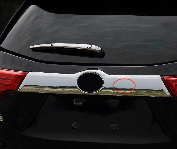 Fit For Toyota Highlander Kluger 2015 2016 2017 Chrome Rear Trunk Tail Gate Door Handle Cover Trim Strip Molding Styling Garnish