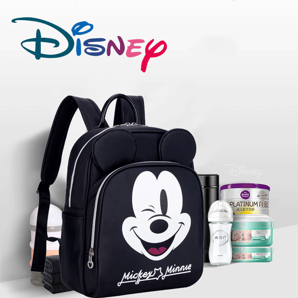 Disney Mickey Baby Diaper Bag Black Waterproof Mummy Maternity Travel Backpack Nursing Handbag Nappy Bag For