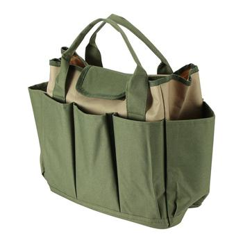 Yeni Moda 600D Oxford kumaş Koyu Yeşil 8 Taraflı çok Cepler Tote Bahçe Kolu Araçları Organizatör saklama çantası Taşınabilir