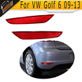 1 Pair MK6 ABS Red Rear Bumper Reflector Lamps Lights covers for VW golf VI MK6 2009-2013