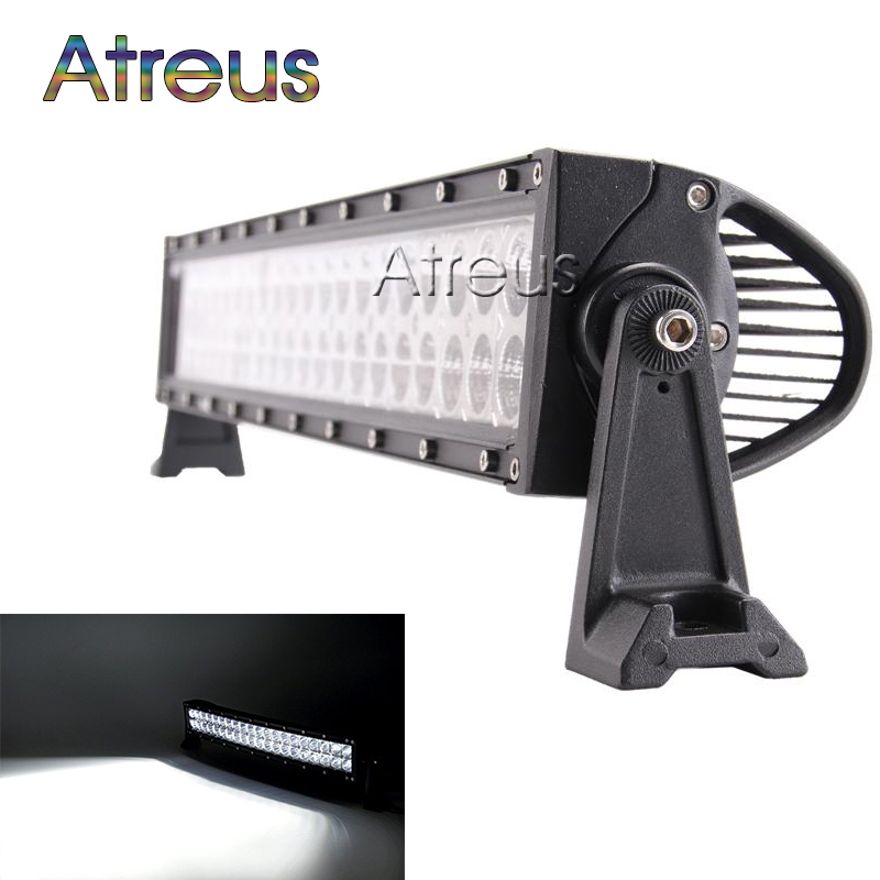 New 22  120w LED Work Light Bar 12V Spot Flood Combo High Power 8800Lm For Boat Offroad 4x4 Truck SUV ATV JEEP Driving Fog Lamp 1pc 4d led light bar car styling 27w offroad spot flood combo beam 24v driving work lamp for truck suv atv 4x4 4wd round square