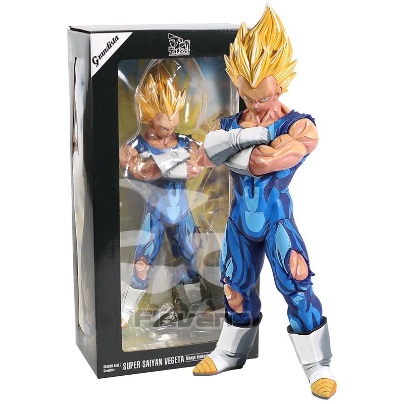 Dragon Ball Z Grandista Majin Vegeta / Super Saiyan Son Goku Manga Dimensions PVC Figure Collectible Model Toy
