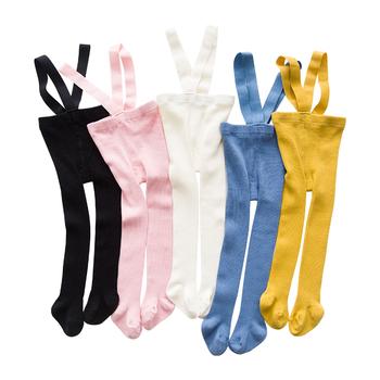 0-2 lata moda dla niemowląt chłopcy dziewczęta rajstopy Casual Cotton ciepłe rajstopy jesienno-zimowa dla dzieci niemowlę dzieci rajstopy pasek pończochy tanie i dobre opinie cuteromp 100 cotton Stałe Unisex Aktywny sock-001 Tight