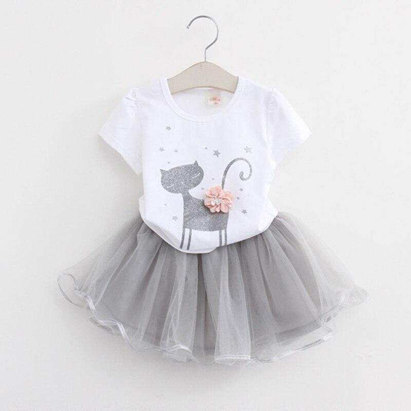 Djevojke haljine 2019 Novi lijepe djevojke bijela majica i - Dječja odjeća - Foto 4