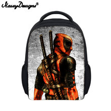 Mini Backpack Kid Deadpool Comics Superheros Printing Kindergarten Boys Girls School Bags Cute Book Bag Small Rucksack Shoulder(China)
