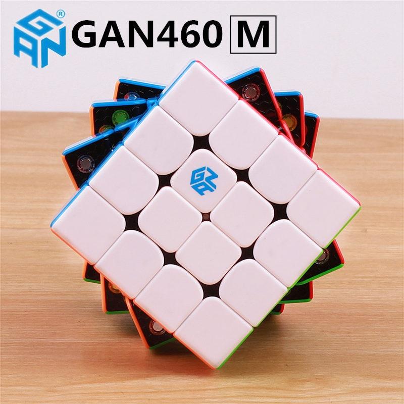 GAN460 M 4x4x4 puzzle magnetyczne magiczna kostka GAN 460 profesjonalne 4 warstwy magnesy prędkość Cubo Magico GANS zabawki dla dzieci w Magiczne kostki od Zabawki i hobby na  Grupa 2