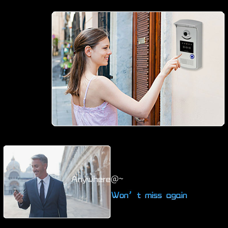 Door bell wireless ete video door <font><b>phone</b></font> video intercom system smart home surveillance camera with mobile <font><b>phone</b></font> monitor system