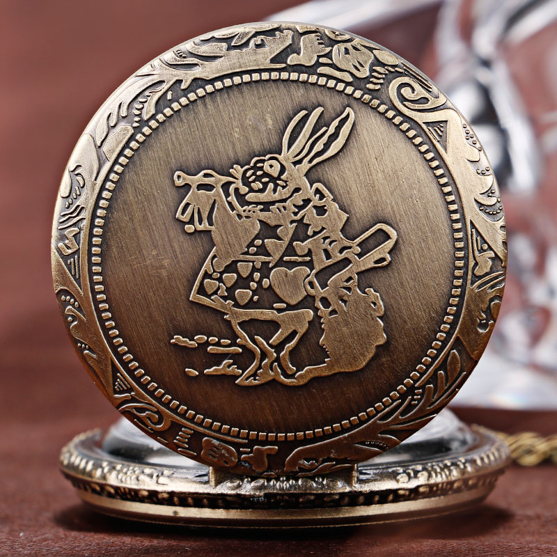 Xmas Gift Pocket Watch Nurse Clock Hour Alice In Wonderland Cute Rabbit Orologio Donna Vintage Free Shipping Dropshipping