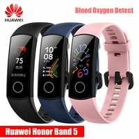 2019 Newst Huawei Honor Band 5 NFC смарт-браслет, пульсоксиметр, оксиметр, кислород крови, плавание, определение позы, 50 м водонепроницаемые часы