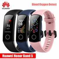 2019 Newst Huawei Honor Band 5 NFC pulsera inteligente ritmo cardíaco oxímetro sangre oxígeno natación postura detectar 50M impermeable ver
