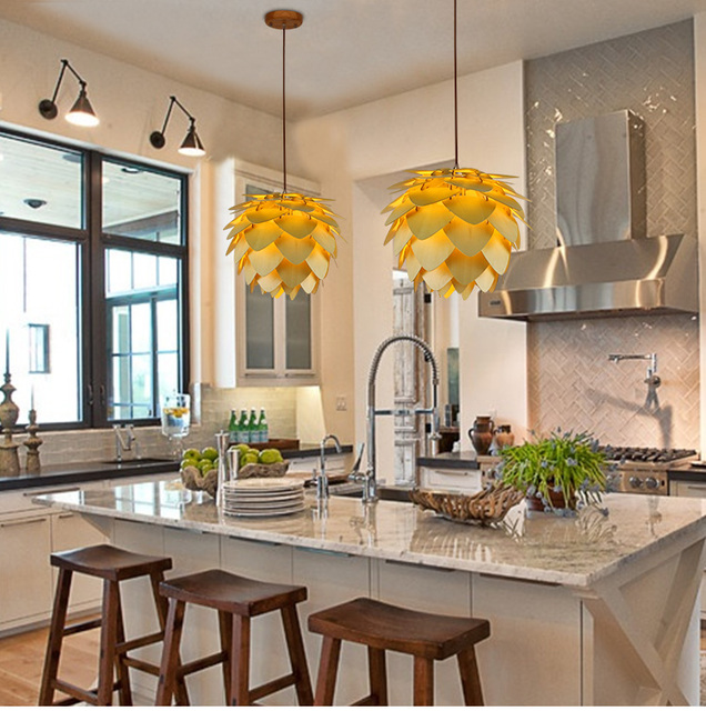 New Home Dining Room Pendant Lamps Modern Wooden Ph Artichoke Diy Iq Elements Jigsaw Puzzle Bedroom Art Wood Lamparas Light