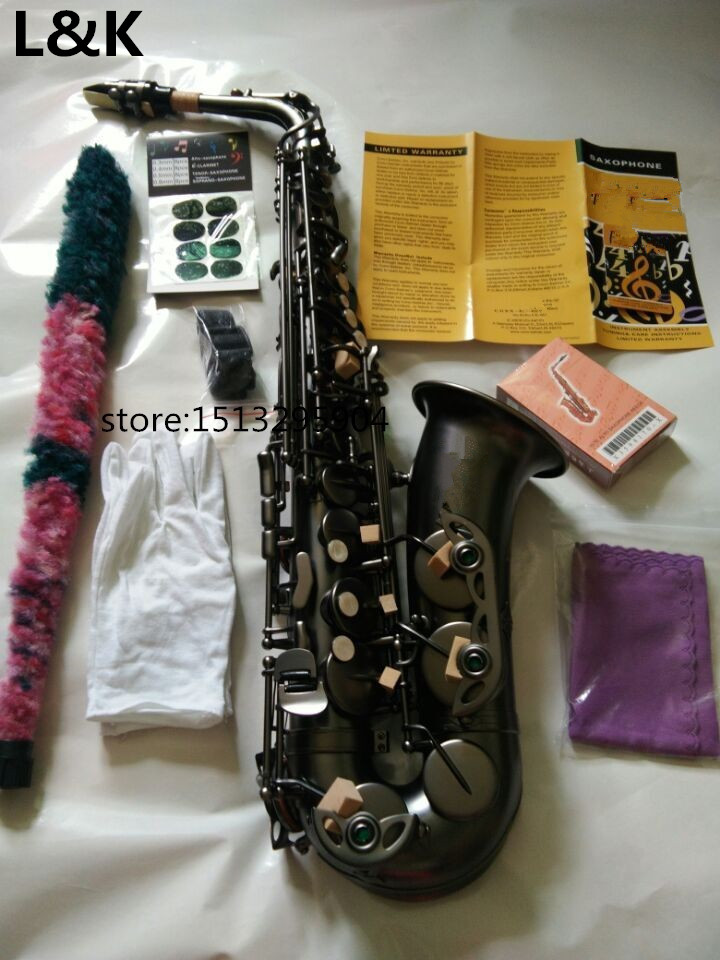Brand Alto Sax DHL Free Shipping New High Quality France Eb Alto 54 Model And Saxophone matte black Professional instrument 2016 free new ems dhl 54 eb alto saxophone professional black gold key instrument sax super and metal mouthpiece