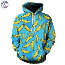 Mr.1991INC Automne Hiver Nouvelle Mode Hommes/femmes À Capuche Hoodies Avec Bouchon Impression Banane 3d Sweats À Capuche Couple Survêtements