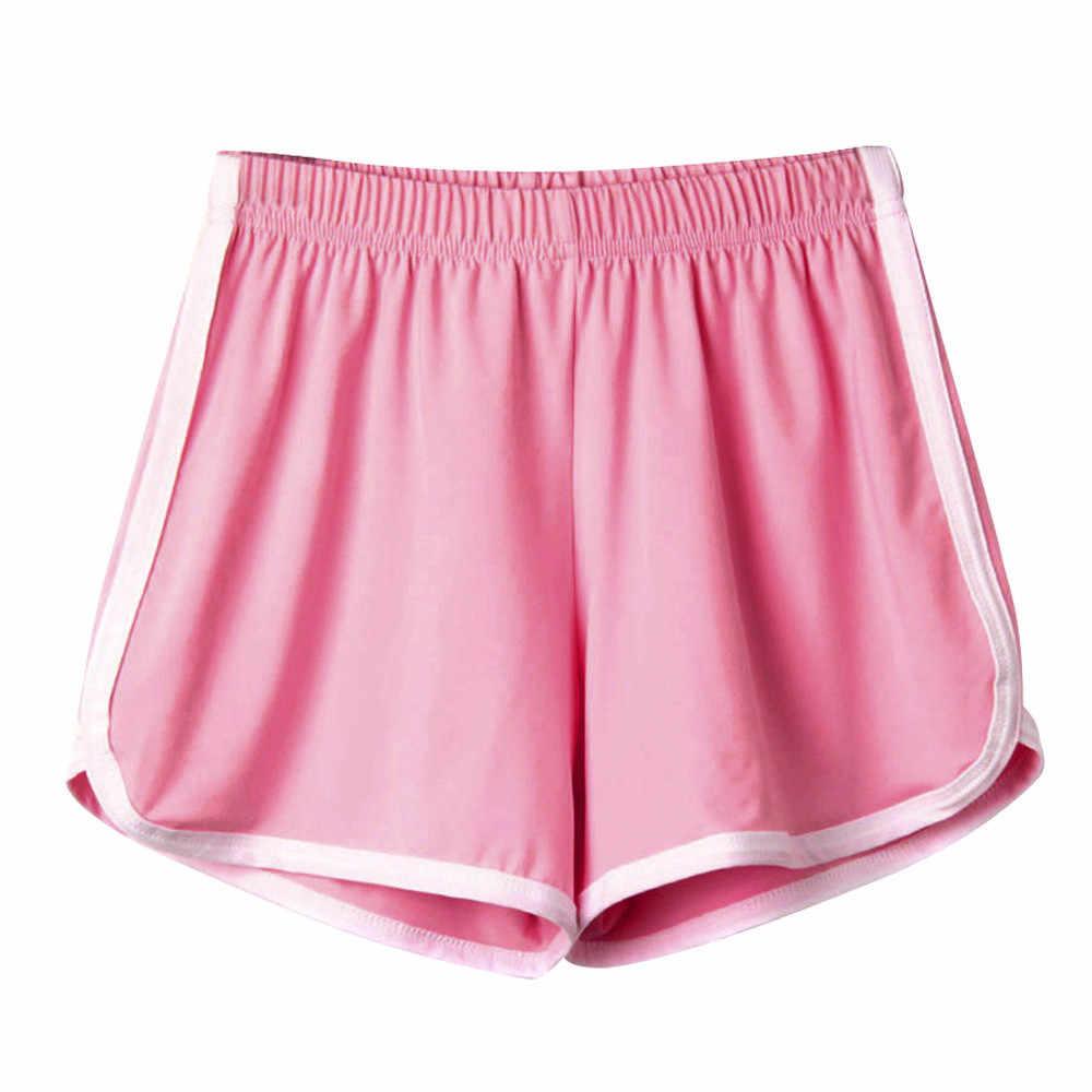 Fashion Vrouwen Lady Zomer sport shorts vrouwen running thuis korte feminino Casual Mid Elastische Taille szorty damskie