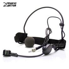 3,5 мм Джек Женский закручивающаяся крышка головной динамический микрофон гарнитуры для Беспроводной нательный передатчик WH20TQG EW500 SK100 SK300