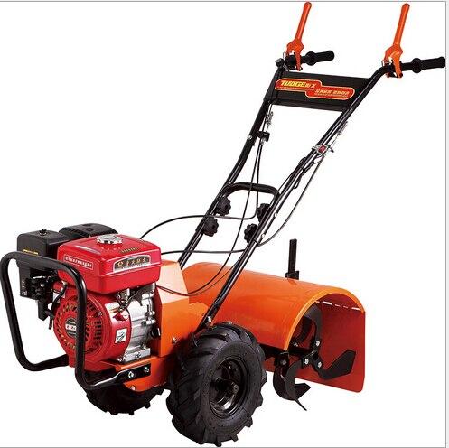 Motoculteur rotatif de tracteur de marche de moteur à essence des outils de jardin 6hp 170/178F, cultivateur de marche, machine de désherbage de marche