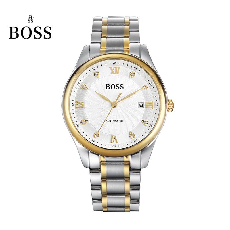 BOSS Germany watches men luxury brand automatic mechanical watch men s stainless steel genuine business gold