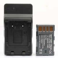 LANFULANG BN-VF808 BN VF808 Batterie und Ladegerät Kit für JVC MiniDV und Everio Camcorder BN-VF808AC BN-VF808U BN-VF818 BN-VF818U