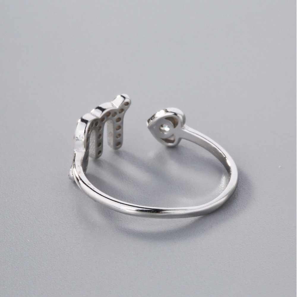 Cxwind открытие звезда кольцо со знаками Зодиака для женщин День рождения Свадьба AAA Кристалл кубический циркон скорпион кольца ювелирные изделия