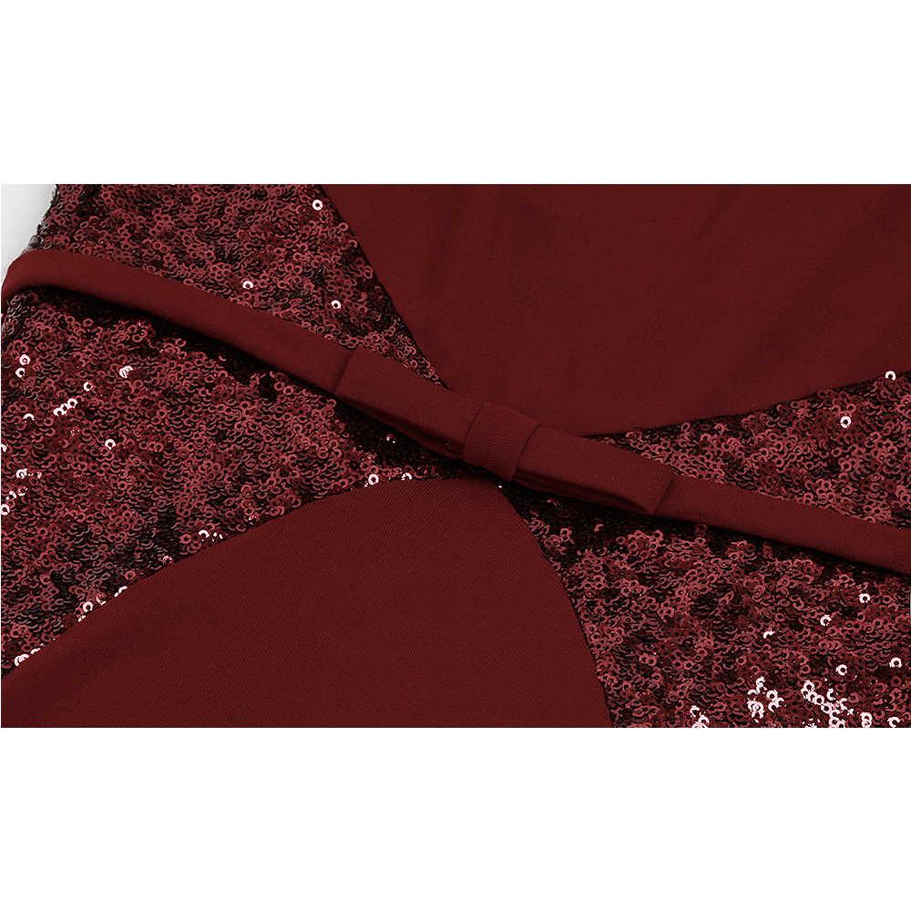 Angel-fashions Women's Strapless Splicing Evening Dresses Bow Vestido de boda Wine Red Navy Blue 384