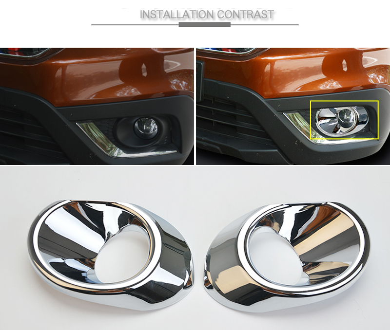 2PCS ABS Exterior Front Rear Fog Light Fog Lamp Cover Trim For Suzuki SX4 S-Cross 2017 2018 for suzuki sx4 s cross 2013 2014 automobile chrome rear door trunk lid cover trim car styling stickers accessories