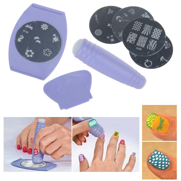 Professional Nail Art DIY Pattern Printing Manicure Machine Stamp ...