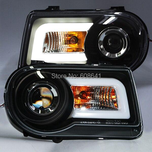 For Chrysler 300C LED Head Light Angel Eyes 2005-2010 Year SN