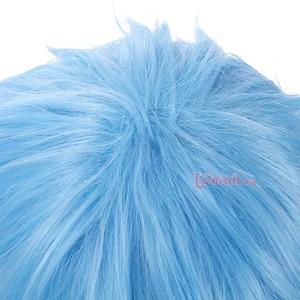 Image 5 - L email Peluca de Cosplay Kuroko no Basket para hombre, peluca corta de pelo sintético azul claro de 30cm
