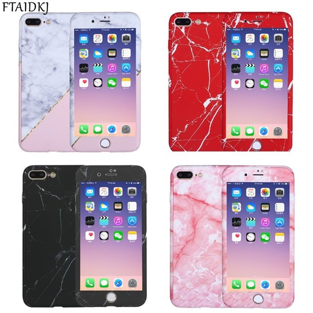 new arrival 796fc 5cecb US $5.58 35% OFF|FTAIDKJ 360 Degrees Full Protection Luxury Marble Stone  Painted Design Hard PC Case For iPhone XS Max XR X 5 5S SE 6 6S 7 8 Plus-in  ...