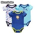 Cuerpo bebes recién nacidos 3 unids/lote bebé de la manga corta del bebé de los mamelucos ropa infantil roupa mono próximo bebé clothing