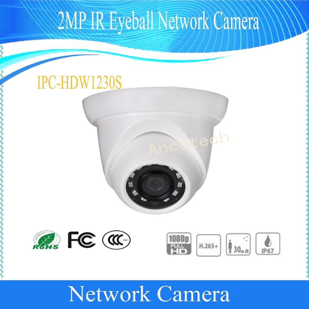 DAHUA Free Shipping Security IP Camera 2MP Day/Night 1080P Surveillance IR Eyeball Network Camera With POE IP67 DH-IPC-HDW1230SDAHUA Free Shipping Security IP Camera 2MP Day/Night 1080P Surveillance IR Eyeball Network Camera With POE IP67 DH-IPC-HDW1230S