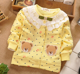(1piece /lot) 100% cotton 2018 cute Lace collar baby outerwear 2