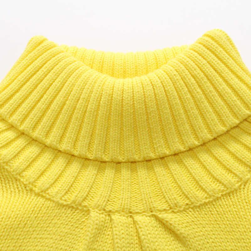 100% 어린이 면화 풀오버 아동 의류 소녀 터틀넥 겉옷 터틀넥 스웨터 기본 셔츠 스웨터 소녀 용