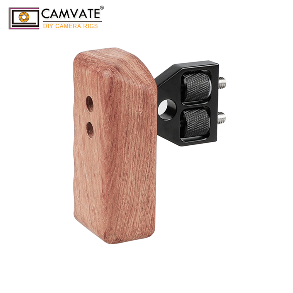 Image 2 - CAMVATE DSLR Wooden Handle Grip (Left Handle) For DV Video Cage  Rig Camara Fotografia Accessories C1242fotografia accessoridslr handle  gripdslr grip