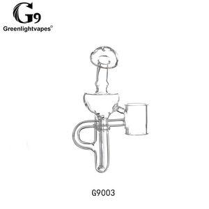 Image 3 - Greenlightvapes G9 שופר זכוכית מים מסנן צינור Bubbler מתאם קובץ מצורף 510 נייל/Henail בתוספת/TC יציאת