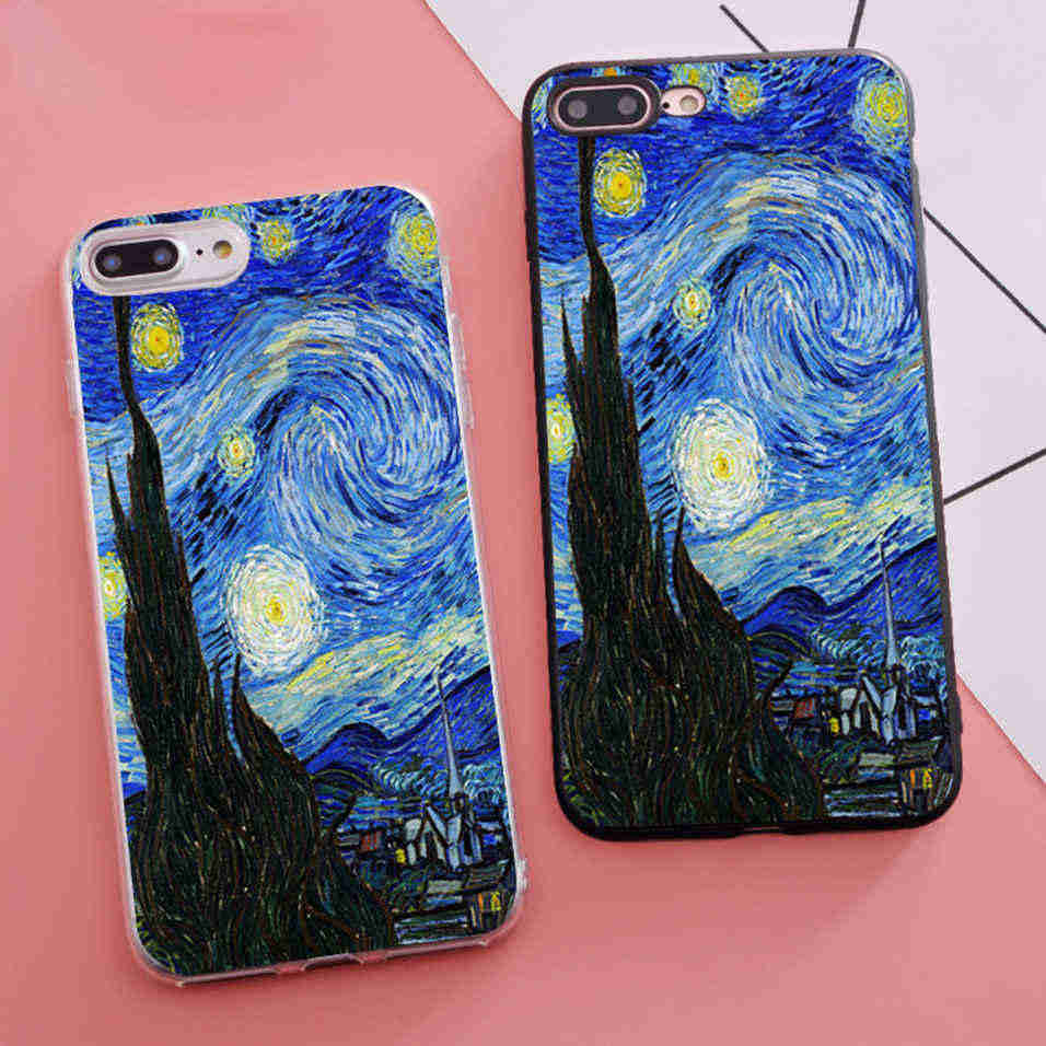 Trending Coque the Starry Night Vincent Van Gogh Soft Silicone ...