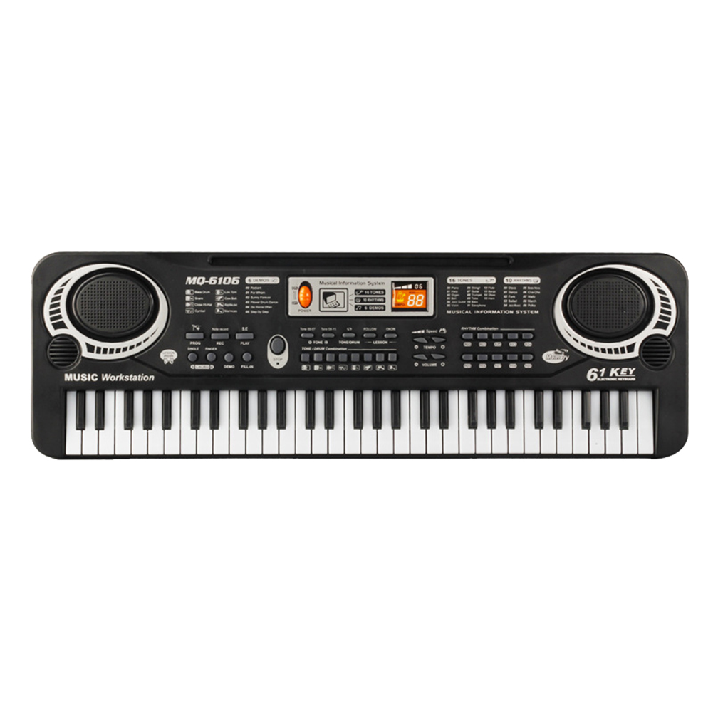 61 touches clavier de Piano électronique numérique Piano électrique avec chargeur Microphone orgue électronique pour enfants clavier nouveau