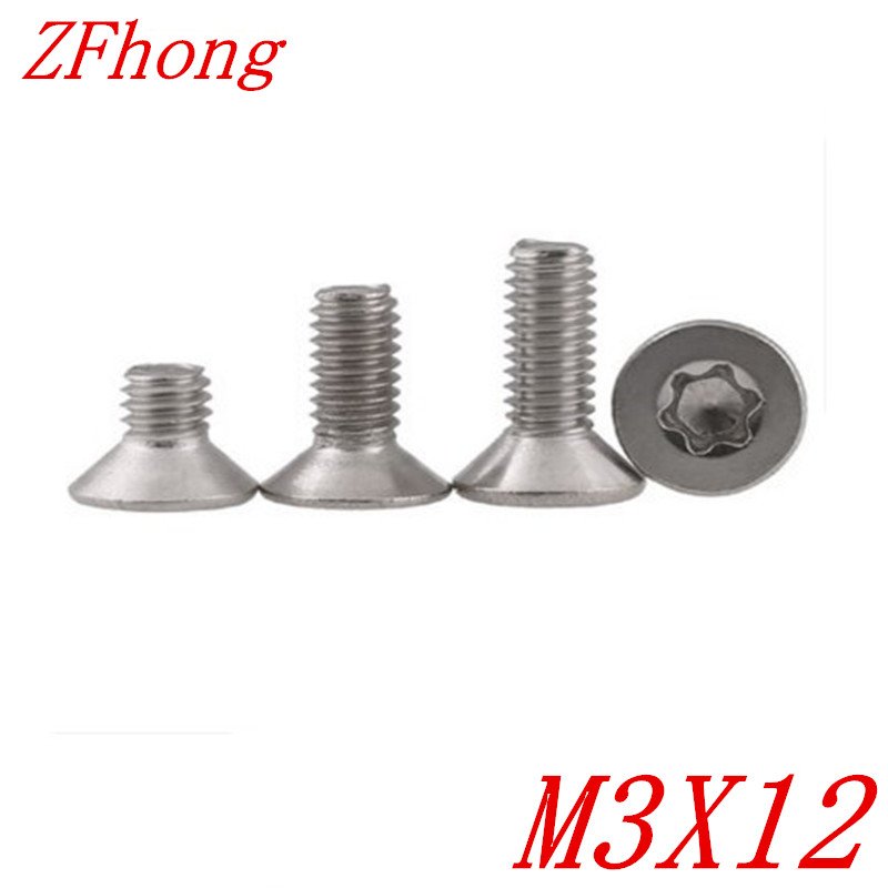 500pcslot M3*12 m3 x 12 Flat torx countersunk head machine screw