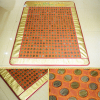 Best Quality+Digital Display ! Natural Tourmaline Physical Therapy Mat Jade Health Care Pad infrared Heat Cushion! Free Shipping