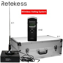 RETEKESS Customized Wireless Conference Voting System For Large Meeting Government Election National People's Congress voting software for mass elections