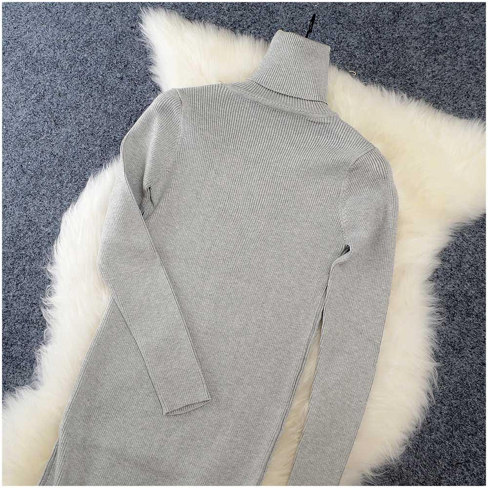 2018 Autumn Winter Women Sweater Dress Turtleneck Knitted Sexy Bodycon long sleeve office Long dress Warm maxi dress red basic