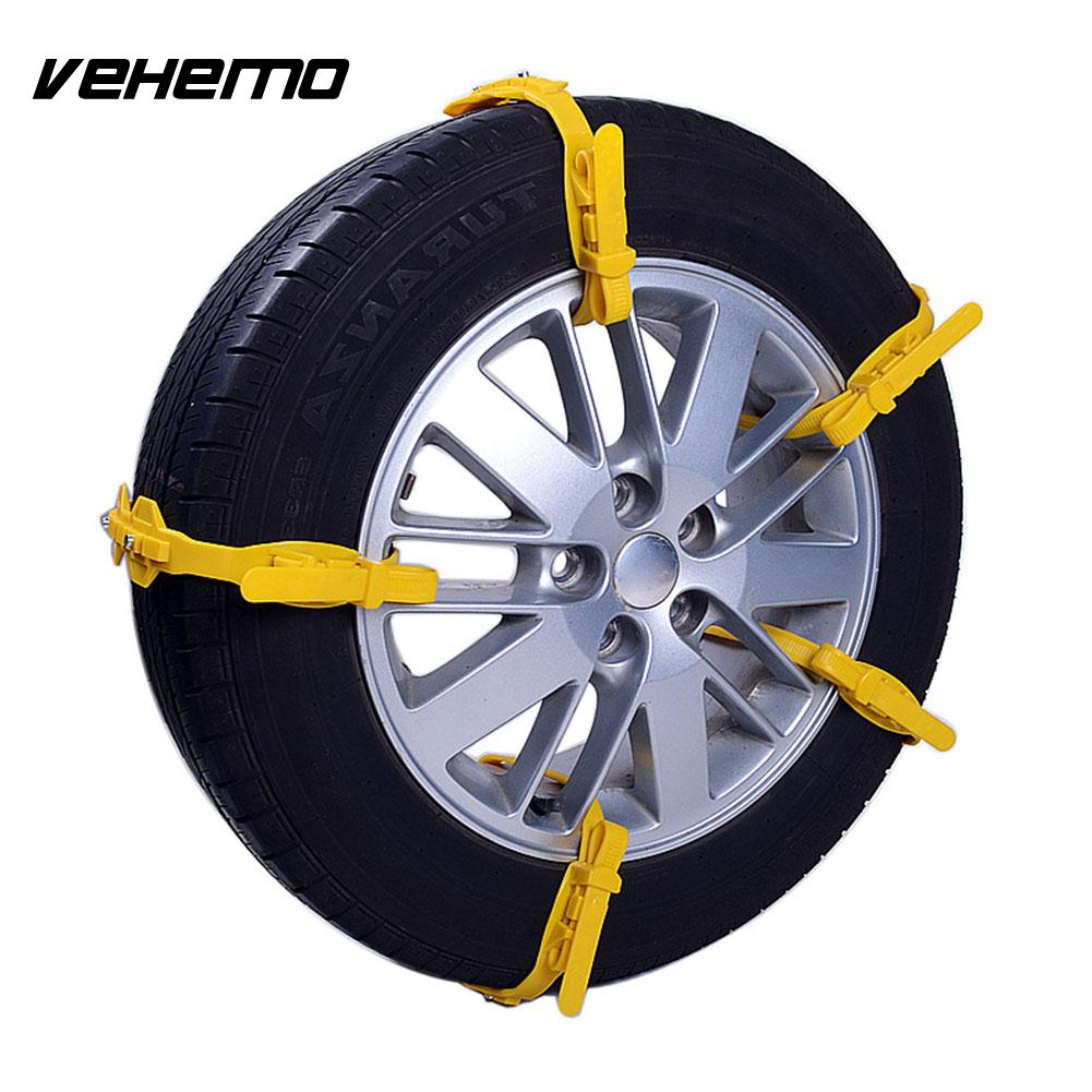 Vehemo 1pc Anti-Skid Chains Roadway Safety Snow Chain Durable Snow Tire Belt Accessories Universal Winter Driving